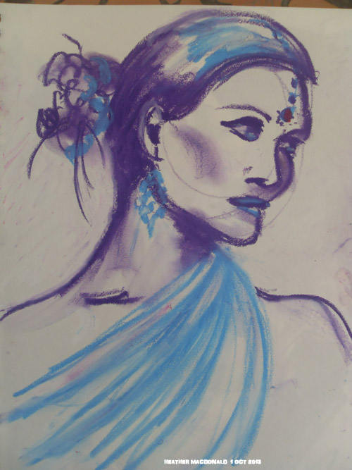 An elegant sketch from the life class.